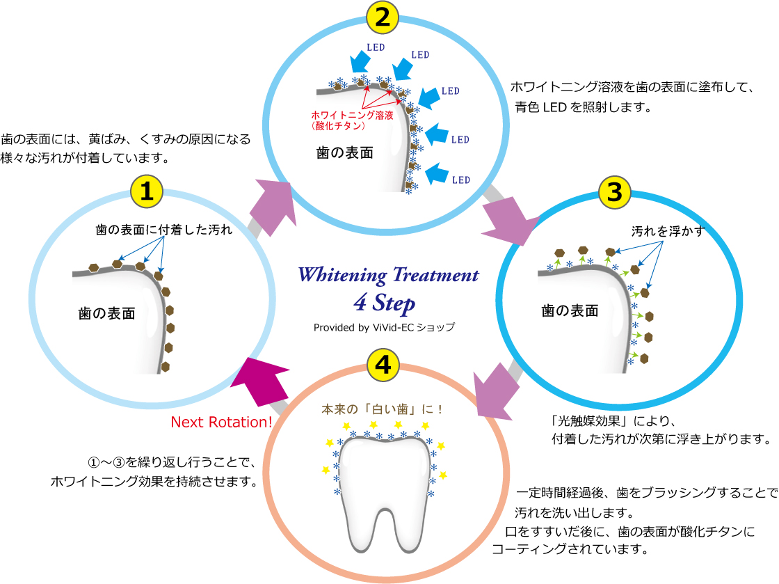歯のセルフホワイトニング仕組み|ViVid-ECショップ