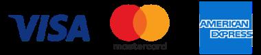 VISA,mastercard,AMEXのロゴ